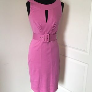 Pink Belted Dress